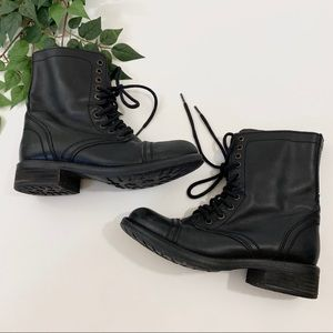 Steve Madden Black Troopa Combat Boots 8